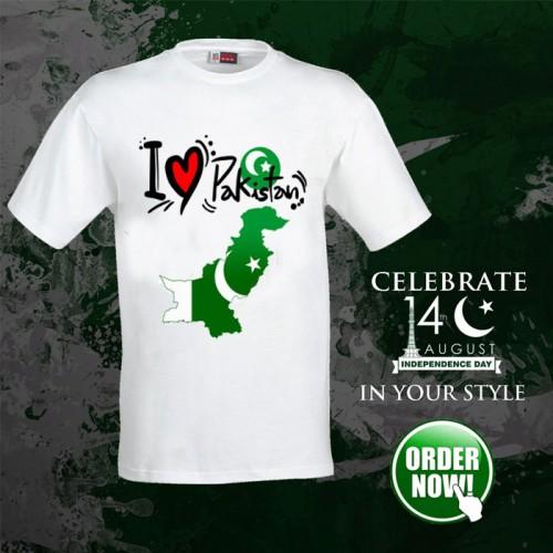 I Love Pakistan half Sleeves T-Shirt For Men
