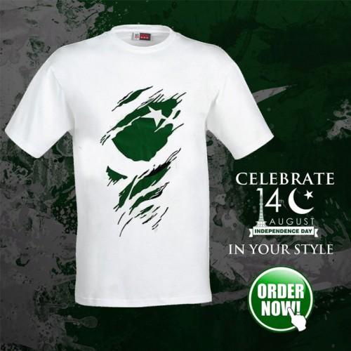 Flag Pakistan Half Sleeves T-Shirt For Men