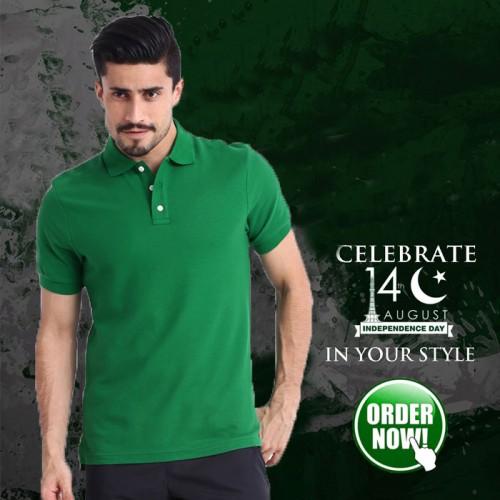 Flag Green Polo For Men