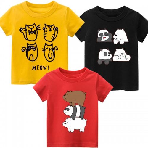 Bundle of 3 Bears Logo Best Quality T-Shirt For Kids