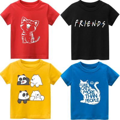 Bundle of 4 Meows Summer T-Shirt For Kids
