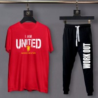 I am United Red Exported Quality Summer Tracksuit