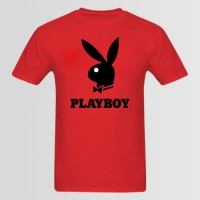 Playboy Half Sleeves Red Tees For Boy