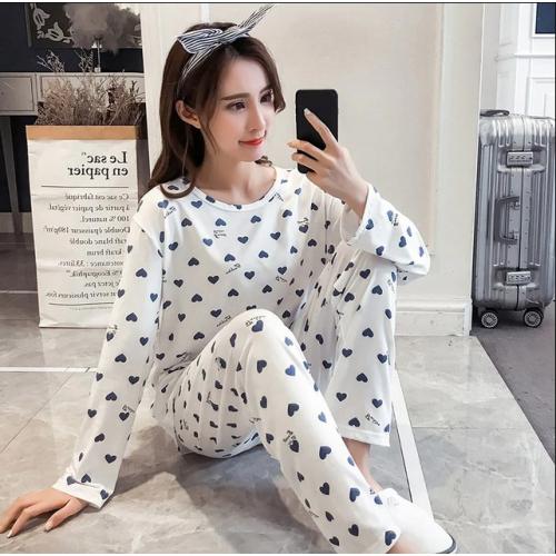 Autumn Cotton Pajamas Set Women Pyjamas Sleepwear Loose Long sleeve