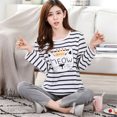 Sleepwear Plus size Home Clothes Night suit Female