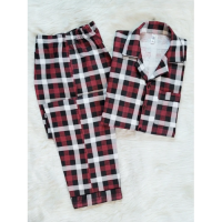 Maroon Checkered Cotton For Women