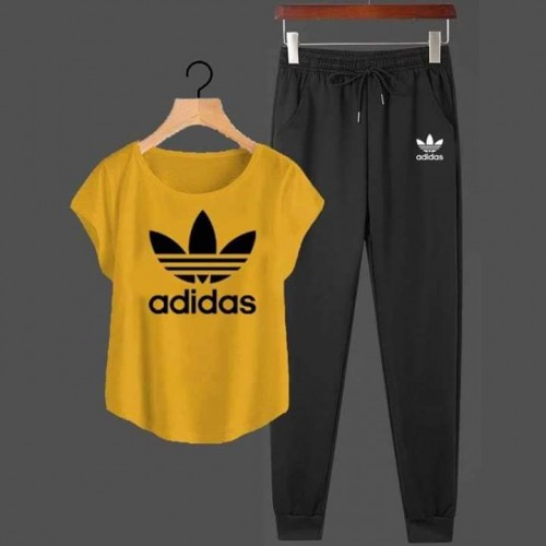 Ad Yellow Summer Tracksuit For Ladies