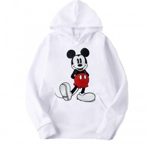 Mickey Mouse White Exported Hoodie For Girls