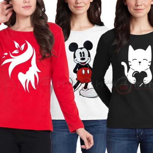 Bundle Of 3 Women's Printed T-Shirts D 2