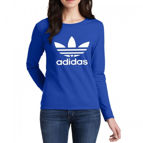 Adidas Full Sleeves T-Shirt in Royal Blue