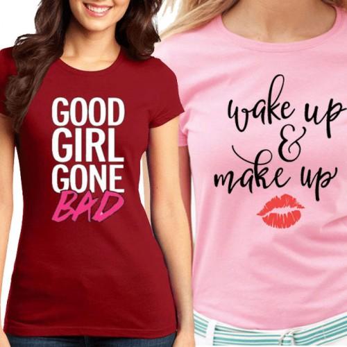 Bundle Of 2 Women's Printed T-Shirts D 6