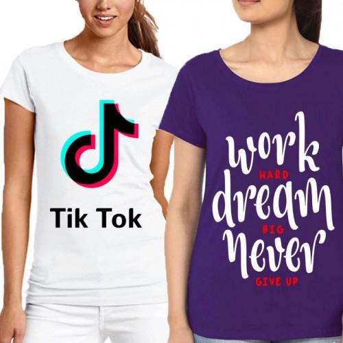 Bundle Of 2 Women's Printed T-Shirts D 9
