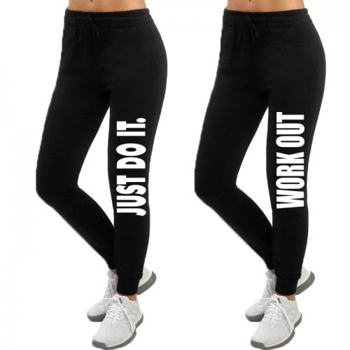 Bundle of Black High Quality Printed Trouser For Ladies