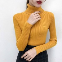 Yellow Best Quality Jumper HighNeck For Ladies