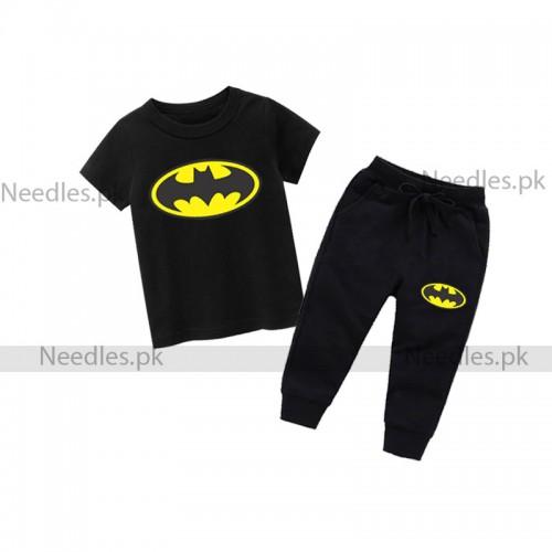 Batman Black Summer Tracksuit For Kids