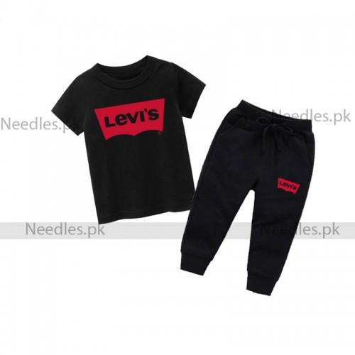 Lev Black Summer Tracksuit For Kids