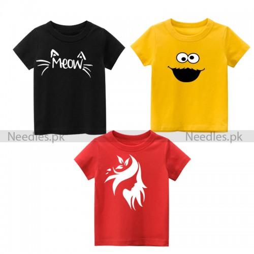 Bundle of 3 Stylish Design Tees For Kids