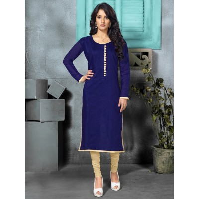 Juniper Royal Blue Designer Long Kurti For Women