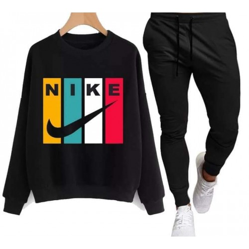 Nk Black Winter Tracksuit For Men's
