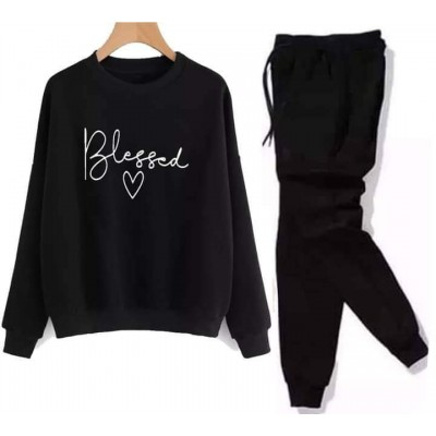 Blessed Black Winter Tracksuit For Ladies