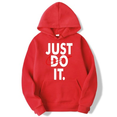 Just do it Red Pullover Hoodie For Men