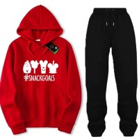 Snackgoals Red Winter Tracksuit For Ladies