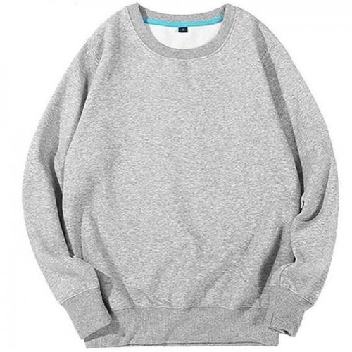 Basic Grey Fleece Hoodie For Ladies