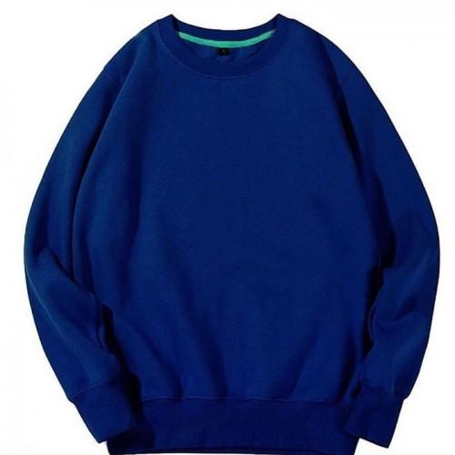 Dark Blue Plain Fleece Sweatshirt Unisex