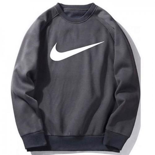 Nk Charcoal Grey Fleece Sweatshirt (Unisex)