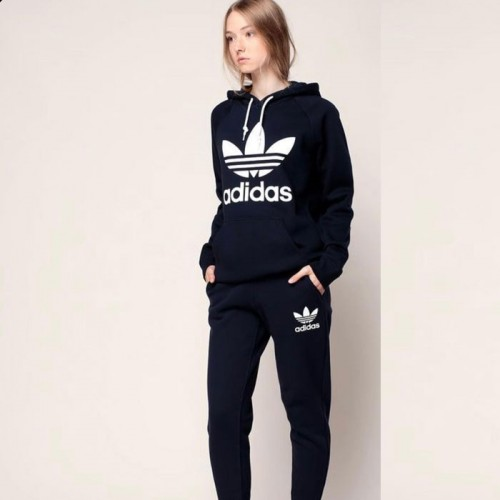 Ad Black Winter Tracksuit For Girls