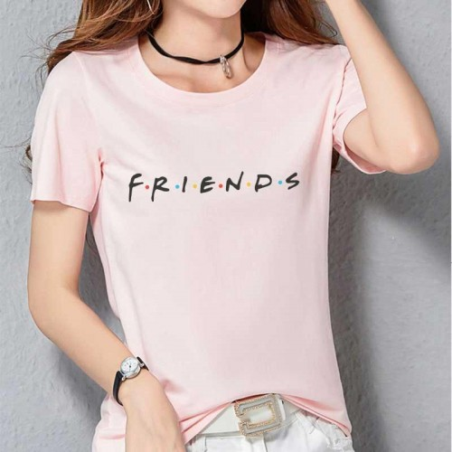 Friends logo Printed T-Shirt in Pink