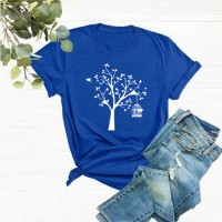 Tree Best Quality T-Shirt in Blue