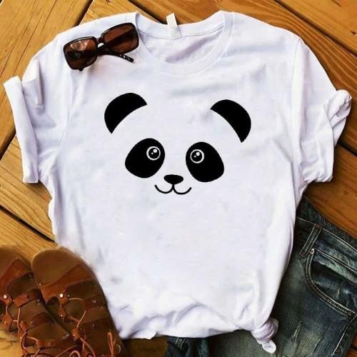 Panda Printed T-Shirt in White
