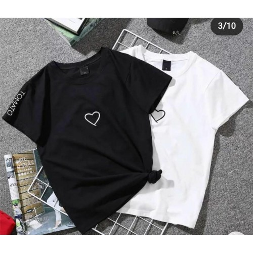 Bundle of 2 Black & White Summer Collection T-Shirt For Ladies
