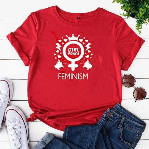 Feminism High-Quality Half Sleeves T-Shirt For Women