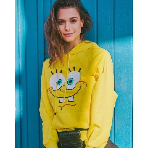 Spongebob Yellow Pullover Hoodie For Women
