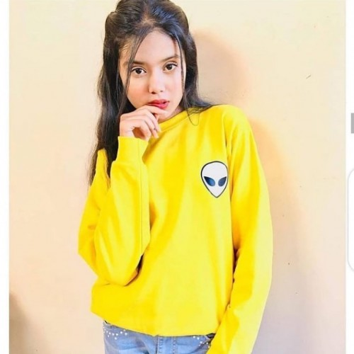 AL logo Yellow Best Quality Sweatshirt For Women