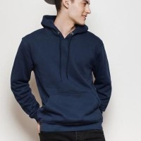 Plain Navy Blue Hoodie For Men