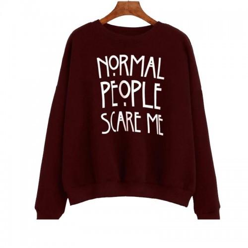 Normal People Exported Quality Maroon Sweatshirt For Women