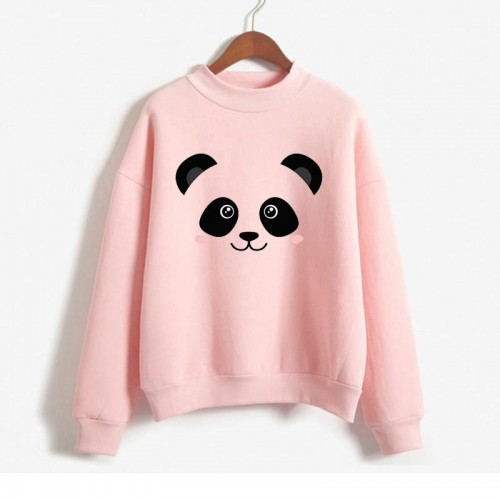 Pink Panda High-Quality Sweatshirt For Ladies