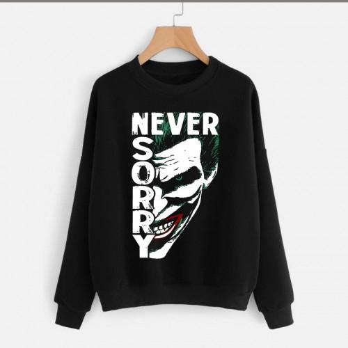 Joker Logo Black Pullover Sweatshirt